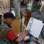 """Straßenkünstler auf der """"La Rambla"""""""